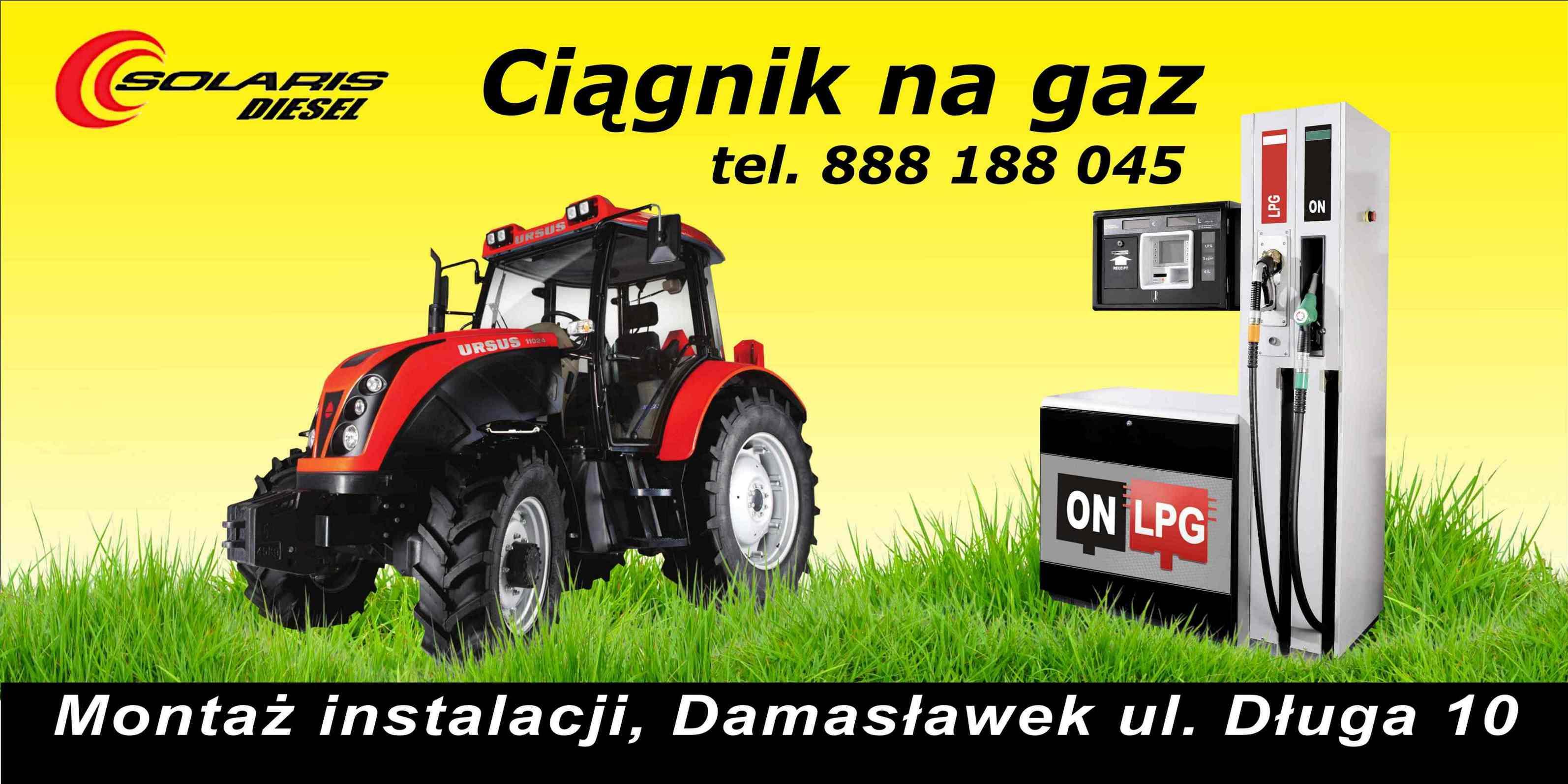 Ciągnik na GAZ LPG Montaż instalacji gazowych