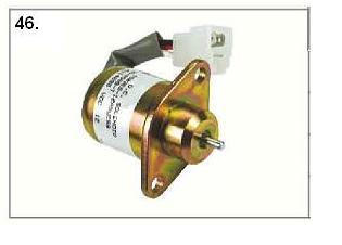Solenoid cewka gaszenia start stop yanmar kubota woodwar  1503ES-12A5UC5S 1503ES-12S5SUC11S