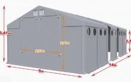 Całoroczna Hala namiotowa 5m × 14m × 2,5m/3,41m
