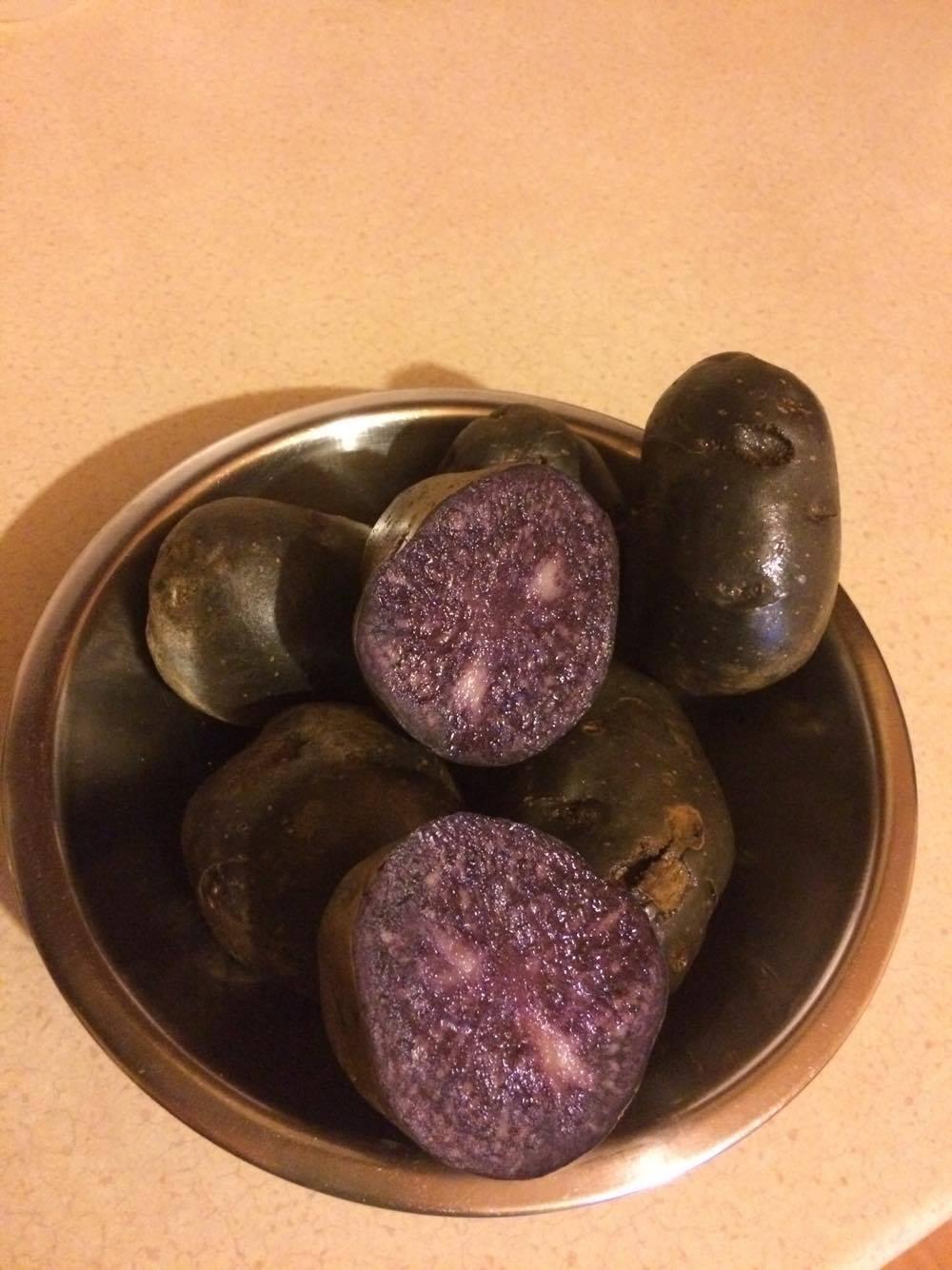 Ziemniaki fioletowe truflowe Vitelotte