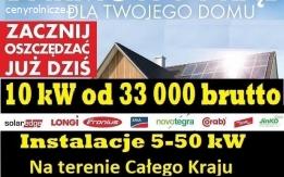 Fotowoltaika 10 kW,  Polskie Moduły, 5-50 kW, Cały Kraj