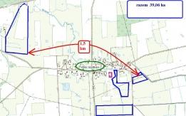 Grunty około 40 ha klasy głównie III b koło Fromborka
