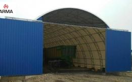 konstrukcja stalowa hala tunelowa magazyn 15x42