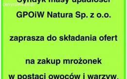 Syndyk GPOiW Natura Sp. z o.o sprzeda mrożonki